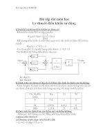Tài liệu Bài tập dài - Lý thuyết điều khiển tự động pptx