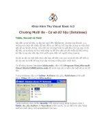 Tài liệu Khóa Hàm Thụ Visual Basic 6.0 Cơ sở dữ liệu (Database) Table, Record và Field docx
