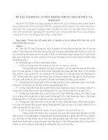 Tài liệu Tiểu luận Luật kinh tế dịch vụ logistics pdf