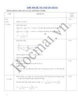 Tài liệu Hướng dẫn giải bộ đề thi thử 3,4 pptx