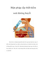 Tài liệu Biện pháp cấp thiết kiểm soát đường huyết pptx