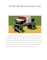 Tài liệu Tài liệu tiếp thị cho mọi công ty nhỏ Thời gian trôi đi, bạn sẽ muốn cung ppt