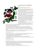 Tài liệu Các thời đại lịch sử Nhật Bản Phần 1 doc