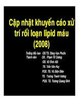 Tài liệu Khuyến cáo về xử trí rối loạn lipid máu 2008 ppt