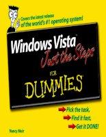 Tài liệu Windows Vista Just the Steps For Dummies P1 pptx