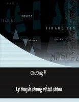 Tài liệu Chương 5: Lý thuyết tài chính docx