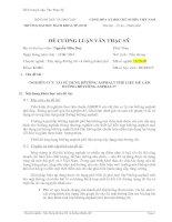 Tài liệu Đề Cương Luận Văn Thạc Sỹ pdf