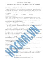 Tài liệu (Luyện thi cấp tốc Hóa) Trắc nghiệm và đáp án Bài tập Fe-Cu-HNO3 pdf