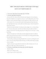 Tài liệu SIÊU ÂM CHẨN ĐOÁN VIÊM NỘI TÂM MẠC BÁN CẤP NHIỄM KHUẨN ppt