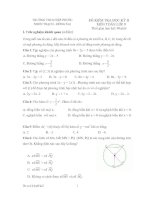 Tài liệu Bộ đề tham khảo kiểm tra học kỳ môn toán lớp 9 đề 6 docx