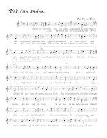 Tài liệu Bài hát vết lăn trầm - Trịnh Công Sơn (lời bài hát có nốt) docx