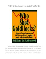 Tài liệu Triết lý Goldilock trong quản lý nhân viên docx