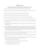 Tài liệu Câu hỏi ôn tập môn Đại cương về Kỹ thuật (MEC 201) ppt