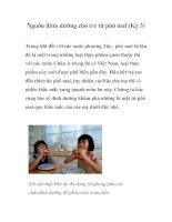 Tài liệu Nguồn dinh dưỡng cho trẻ từ phô mai (Kỳ 3) ppt