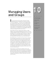 Tài liệu Managing Users and Groups ppt