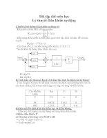 Tài liệu Bài tập dài môn học Lý thuyết điều khiển tự động pdf