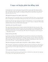 Tài liệu 5 mẹo vui luyện phát âm tiếng Anh pdf
