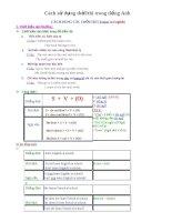 Tài liệu Cách sử dụng thời/thì trong tiếng Anh docx