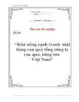 """Tài liệu Luận văn tốt nghiệp """"Khả năng cạnh tranh mặt hàng rau quả tổng công ty rau quả, nông sản Việt Nam"""" pptx"""