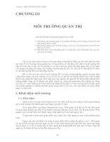 Tài liệu Chương 3: MÔI TRƯỜNG PHÁT TRIỂN pdf