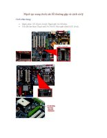 Tài liệu Mạch tạo xung clock các lỗi thường gặp và cách xử lý pdf