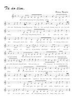 Tài liệu Bài hát tà áo tím - Hoàng Nguyên (lời bài hát có nốt) pdf