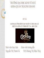 Slide đánh giá tình hình tạo nguồn và thu mua cà phê của công ty TNHH MTV cà phê 734  kon tum