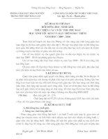 Bài giảng KẾ HOẠCH BD HSG và PHỤ ĐẠO HS YẾU KÉM NĂM HỌC 2009-2010