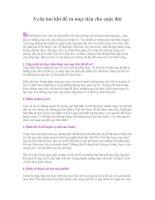 Tài liệu 5 câu hỏi khi đề ra mục tiêu cho cuộc đời pptx