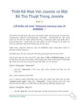 Tài liệu Thiết Kế Web Với Joomla part 11 doc