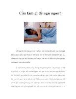 Tài liệu Cần làm gì để ngủ ngon? docx