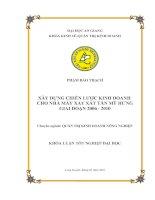 Tài liệu Luận văn: Xây dựng chiến lược kinh doanh cho nhà máy xay xát Tân Mỹ Hưng giai đoạn 2006 - 2010 pdf