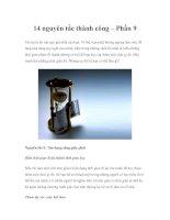 Tài liệu 14 nguyên tắc thành công – Phần 9, 10 pptx