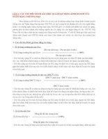 CÁC CHỈ TIÊU ĐÁNH GIÁ HIỆU QUẢ HOẠT ĐỘNG KINH DOANH của NGÂN HÀNG THƯƠNG mại