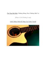 Tài liệu Âm nhạc lớp 5 - Ôn Tập Bài Hát: Những Bông Hoa Những Bài Ca (Nhạc và lời Hoàng Long) ppt