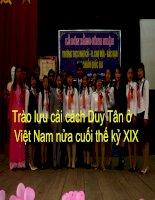Bài giảng Bài 28 Trào luu cải cách Duy Tân o Việt Nam nua cuối thế kỷ XIX