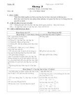 Bài soạn Giao an Dai so 9 moi nhat