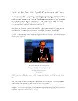 Tài liệu Putin và bài học lãnh đạo từ Continental Airlines pptx