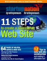 Tài liệu 11 steps to create a successful web site doc