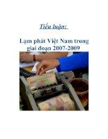 Tài liệu Tiểu luận: Lạm phát Việt Nam trong giai đoạn 2007-2009 ppt