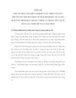 MỘT SỐ NHẬN XÉT KIẾN NGHỊ ĐỀ XUẤT: TRÊN CƠ SỞ LÝ THUYẾT ĐƯỢC HỌCKẾT HỢP VỚI TÌNH HÌNHTHỰC TẾ TẠI DN, SINH VIÊN TRÌNH BÀY NHỮNG ƯU ĐIỂM VÀ NHỮNG TỒN TẠI TỪ ĐÓ ĐƯA RA Ý KIẾN ĐỀ XUẤT GIẢI PHÁP