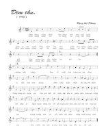 Tài liệu Bài hát đêm thu - Đặng Thế Phong (lời bài hát có nốt) docx