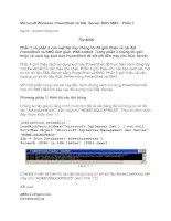 Tài liệu Microsoft Windows PowerShell và SQL Server 2005 SMO – Phần 7 pptx