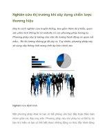 Tài liệu Nghiên cứu thị trường khi xây dựng chiến lược thương hiệu doc