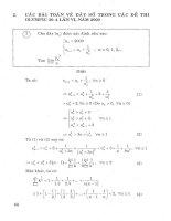 Tài liệu Phần 2 Các bài toán dãy sô ôn thi trong đề thi Olympic phần 2 pptx