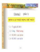 Chương 2: Định Luật Nhiệt Động 1