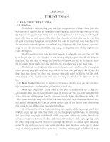 Tài liệu Giáo trình toán rời rạc - Chương 1: THUẬT TOÁN pdf