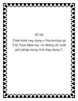 Tình hình ứng dụng e-Marketing tại Việt Nam hiện nay và những đề xuất giải pháp mang tính ứng dụng C