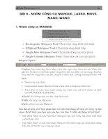 Tài liệu Adobe Photoshop 7.0 Nhóm công cụ Marque, Lasso, Move, Magic wand 1. Nhãm c«ng ppt