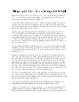 Tài liệu Bí quyết làm ăn với người Nhật pdf